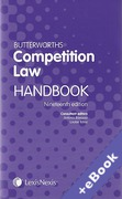 Cover of Butterworths Competition Law Handbook 2013 (Book & eBook Pack)