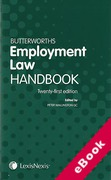 Cover of Butterworths Employment Law Handbook 2013 (eBook)