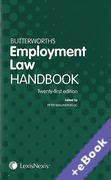 Cover of Butterworths Employment Law Handbook 2013 (Book & eBook Pack)