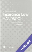 Cover of Butterworths Insurance Law Handbook (Book & eBook Pack)