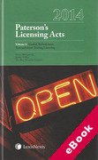 Cover of Paterson's Licensing Acts 2014 (eBook)