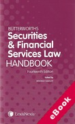 Cover of Butterworths Securities and Financial Services Law Handbook 2013 (eBook)