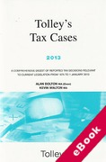 Cover of Tolley's Tax Cases 2013 (eBook)
