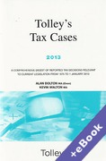 Cover of Tolley's Tax Cases 2013 (Book & eBook Pack)