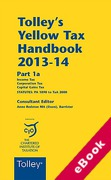 Cover of Tolley's Yellow Tax Handbook 2013-14 (eBook)