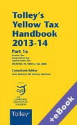 Cover of Tolley's Yellow Tax Handbook 2013-14 (Book & eBook Pack)