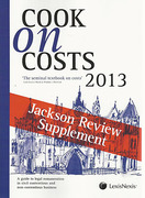 Cover of Cook on Costs 2013: Jackson Review Supplement