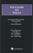Cover of Williams on Wills 9th ed: 4th Supplement