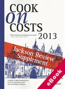 Cover of Cook on Costs 2013: Jackson Review Supplement  (eBook)