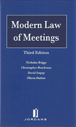 Cover of Modern Law of Meetings