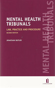 Cover of Mental Health Tribunals: Law, Practice and Procedure