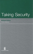 Cover of Taking Security: Law and Practice