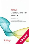 Cover of Tolley's Capital Gains Tax 2014-15 (eBook)