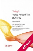 Cover of Tolley's Value Added Tax 2014-15: 2nd edition (eBook)