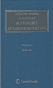 Cover of Spencer Bower & Handley on Actionable Misrepresentation