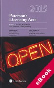 Cover of Paterson's Licensing Acts 2015 (eBook)