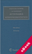 Cover of Spencer Bower & Handley on Actionable Misrepresentation (eBook)