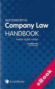 Cover of Butterworths Company Law Handbook 2014 (eBook)