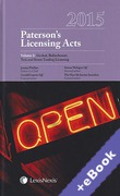 Cover of Paterson's Licensing Acts 2015 (Book & eBook Pack)