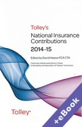 Cover of Tolley's National Insurance Contributions 2014-15 (Book & eBook Pack)