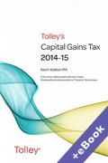 Cover of Tolley's Capital Gains Tax 2014-15 (Book & eBook Pack)
