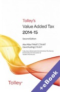 Cover of Tolley's Value Added Tax 2014-15: 2nd edition (Book & eBook Pack)