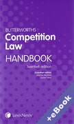 Cover of Butterworths Competition Law Handbook 2014 (Book & eBook Pack)