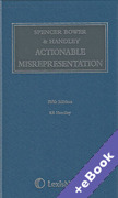 Cover of Spencer Bower & Handley on Actionable Misrepresentation (Book & eBook Pack)