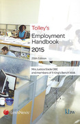 Cover of Tolley's Employment Handbook 2015