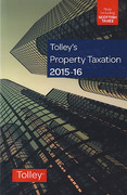 Cover of Tolley's Property Taxation 2015-16
