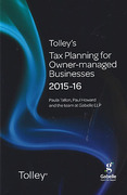 Cover of Tolley's Tax Planning for Owner-Managed Businesses 2015-16