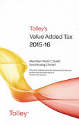 Cover of Tolley's Value Added Tax 2015-16: 2nd edition