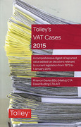 Cover of Tolley's VAT Cases 2015