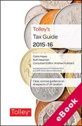 Cover of Tolley's Tax Guide 2015-16 (eBook)