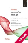 Cover of Tolley's Income Tax 2015-16 (eBook)