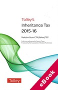 Cover of Tolley's Inheritance Tax 2015-16 (eBook)