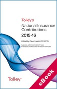 Cover of Tolley's National Insurance Contributions 2015-16 (eBook)