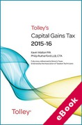 Cover of Tolley's Capital Gains Tax 2015-16 (eBook)