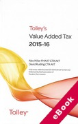 Cover of Tolley's Value Added Tax 2015-16: 2nd edition (eBook)