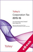 Cover of Tolley's Corporation Tax 2015-16 (eBook)