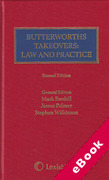 Cover of Butterworths Takeovers Law and Practice (eBook)