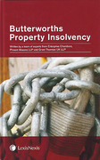 Cover of Butterworths Property Insolvency