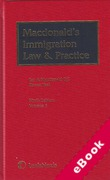 Cover of Macdonald's Immigration Law and Practice with 1st supplements (eBook)