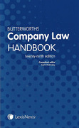 Cover of Butterworths Company Law Handbook 2015