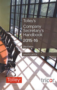 Cover of Tolley's Company Secretary's Handbook 2015-16