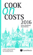 Cover of Cook on Costs 2016