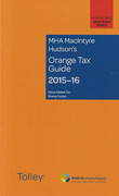 Cover of MHA MacIntyre Hudson's Orange Tax Guide 2015-16