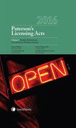 Cover of Paterson's Licensing Acts 2016