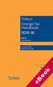Cover of Tolley's Orange Tax Handbook 2015-16 (eBook)