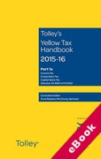 Cover of Tolley's Yellow Tax Handbook 2015-16 (eBook)